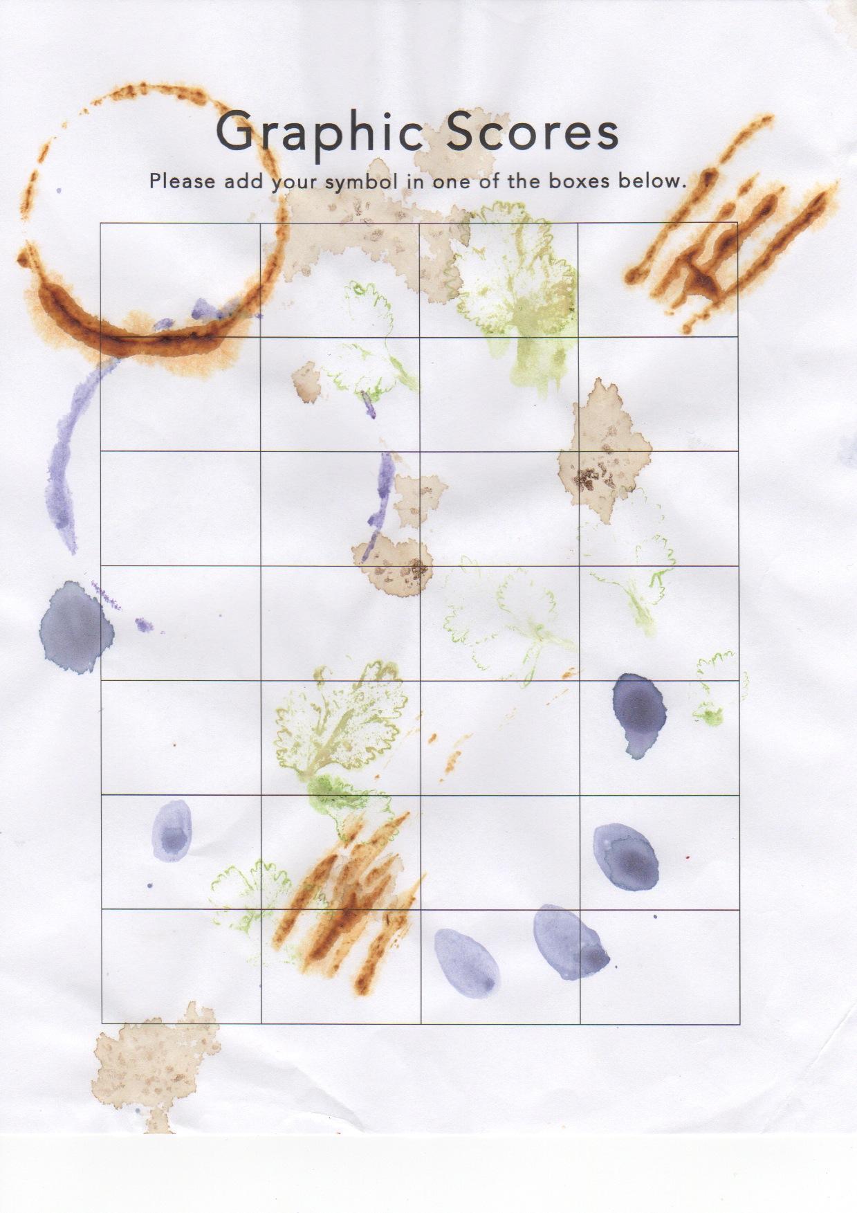 Graphic Scores Project - Carmina's Kitchen